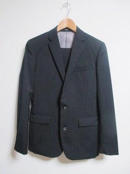 ☆COMME CA ISM コムサイズム ストライプ柄 セットアップ スーツ/メンズ/S☆黒