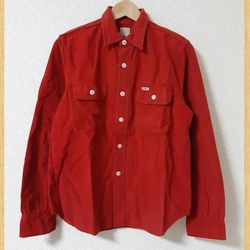 定価16280円 cootie 長袖コットンシャツ スエード調 フランネル S ワーク kj