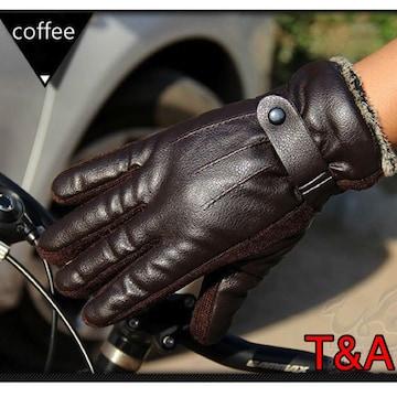 手袋 メンズ 革手袋 レザー グローブ 防水 ツーリング 茶色