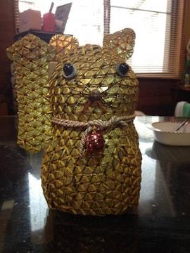 五円玉   黄金 招きネコ