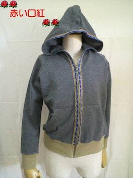 Sサイズ〜*TITICACA(チチカカ)コード刺繍・ジャケット・パーカーグレー