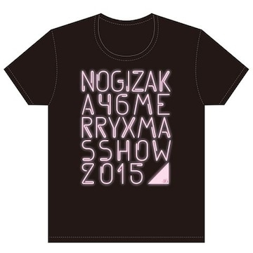 即決 乃木坂46 Tシャツ Merry X'mas Show 2015 _ ピンクver. XL