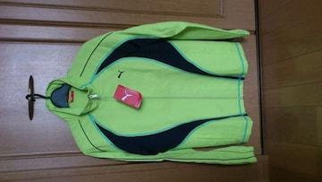 激安67%オフプーマ、ジャージ、ロゴ刺繍、UV加工(新品タグ、黄緑、L)