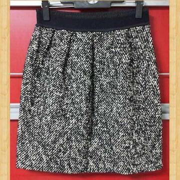 STRAWBERRY-FIELDS ストロベリーフィールズ ツイードスカート 日本製