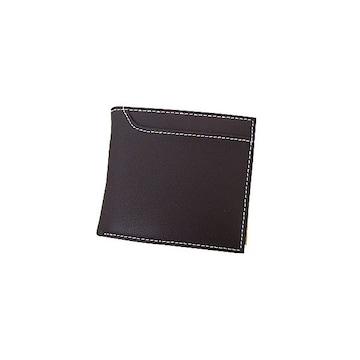 T&S牛革 二つ折り財布TS001ブラウン