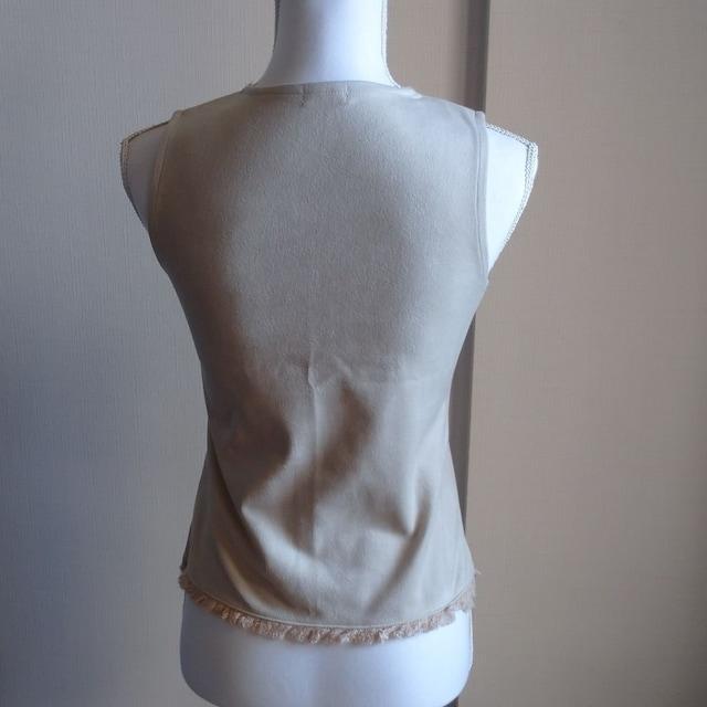 袖なし☆ベージュ < 女性ファッションの