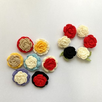 (在庫処分)ハンドメイドレース編みお花モチーフ13個セット