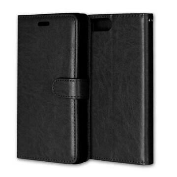 iPhone6 /6S手帳型レザーケース+フィルム 収納携帯ケース 黒色