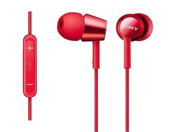 イヤホン カナル型 iPhone/iPod/iPad 赤