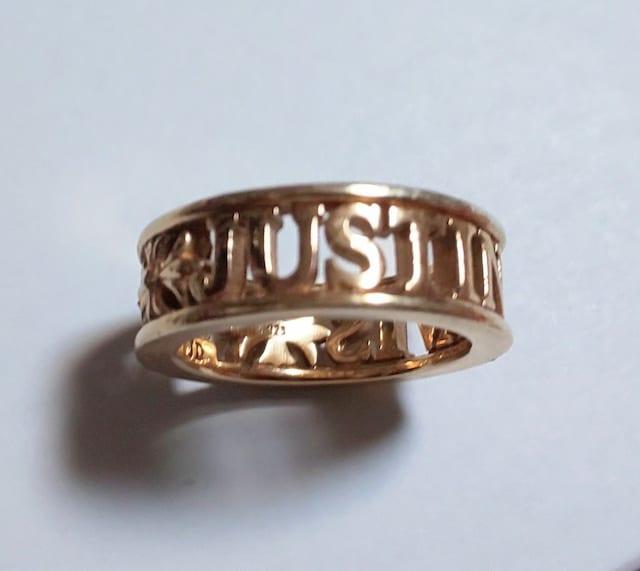 JustinDavisピンクゴールドMADLOVE指輪ジャスティンデイビス王冠  < ブランドの