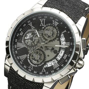 サルバトーレマーラ クオーツ腕時計SM13119D-SSBKBK ブラッ