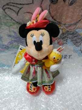 ★ディズニー★イースター2020★ミニー★ぬいぐるみバッジ★
