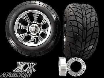 ジャイロ用 ブラックホイール バギータイヤ&スペーサー40mm