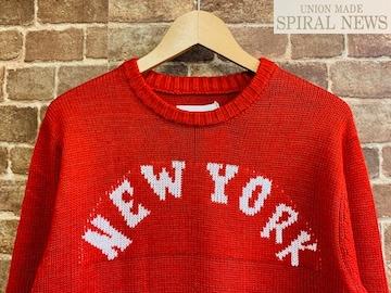 表記XL/新品!NEW YORK ニット セーター 赤 サーフ ロック セレカジ サファリ