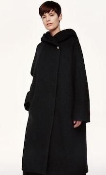 marimekko Kasenja Coat マリメッコ ウール ロング フード コート