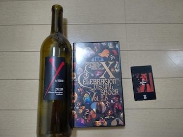 X JAPAN 新品テレカ VHS YOSHIKI ワイン空き瓶 まとめ売り