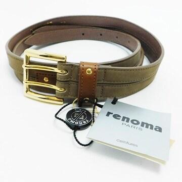 未使用renomaレノマ ベルト レザー 茶 68 良品 正規品
