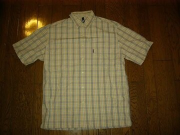 SILASサイラスチェックシャツL半袖