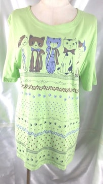 99☆Belta attice☆激可愛い猫デザイン半袖Tシャツ☆M-L☆