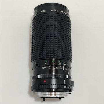 Z185 SIGMA ZOOM -λ�U 1:4.5-5.6 f=75〜300mm φ55 レンズ