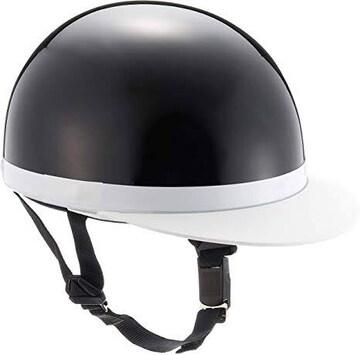 バイクパーツセンター ヘルメット ハーフ 白ツバ ブラック フリ