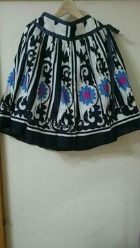 無メーカー 花柄ヒップボーンスカート