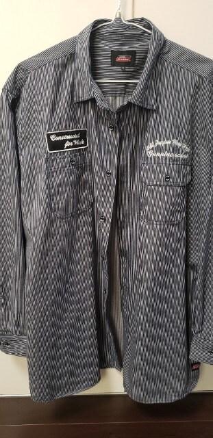 新品Dickiesストライプシャツ5L  < 男性ファッションの