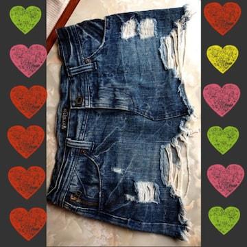 【値下げ不可】新品未使用!!ダメージデニムミニスカート
