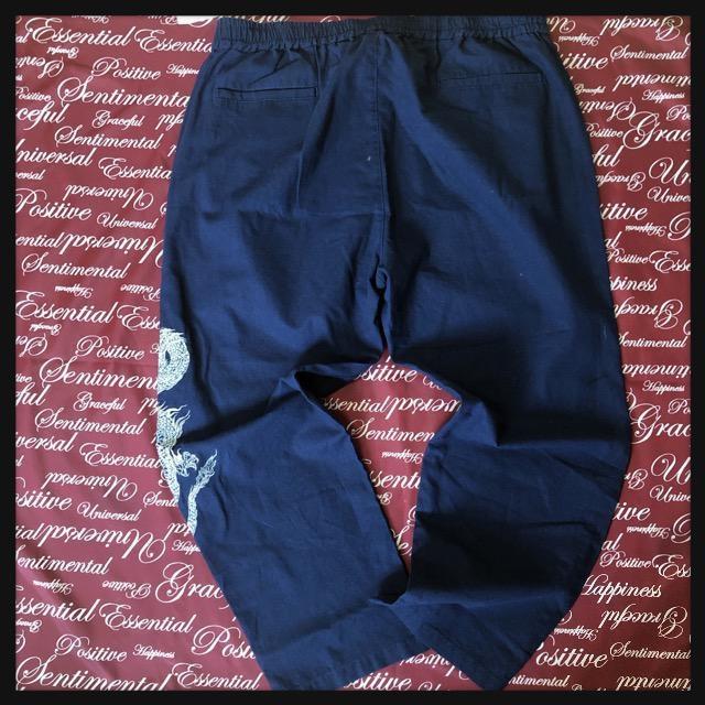 3L・和柄龍刺繍パンツ新品/MCH-106 < 男性ファッションの