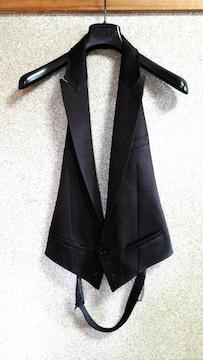 正規 新古 Dior Homme ディオールオム ピークドラペルジレ黒 ベスト 44 調節可
