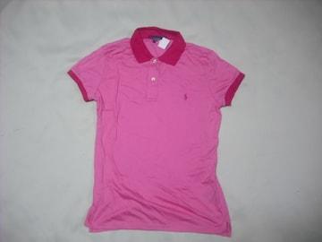 wr373 女 RALPH LAUREN ラルフローレン 半袖ポロシャツ Mサイズ