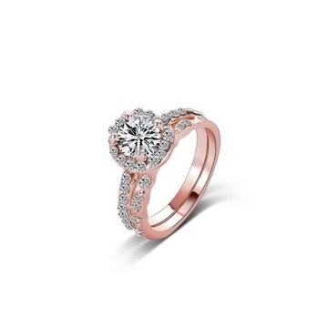 送料込み:ホワイトクリスタル リング(指輪)セット 11号