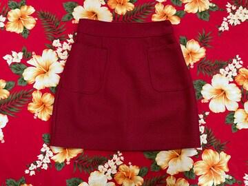 dazzlin☆綺麗な赤☆上質☆ワッフル生地ミニスカート