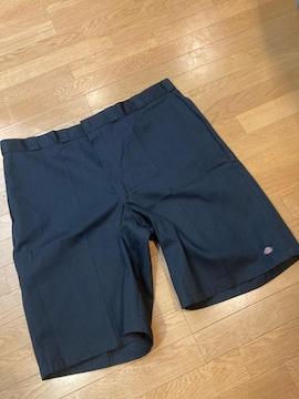 Dickies ハーフパンツ 超超大きいサイズW50  紺ネービー  128cm