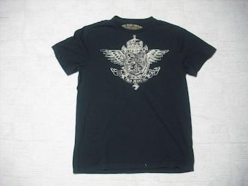 22 男 ラルフローレン 黒 半袖Tシャツ M
