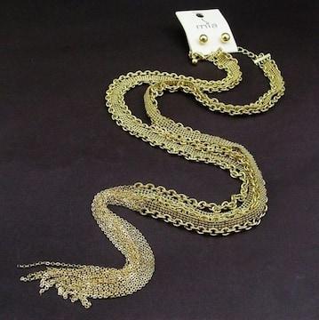 新品mia Collectionアンティーク調チェーンネックレス・ピアス