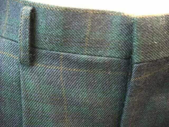 【CASTLE】【男性用】チェックツータックのパンツです < 男性ファッションの