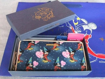 ラスト1新品専用箱有◆サマンサベガD23 EXPOミッキーハート長財布ブルー