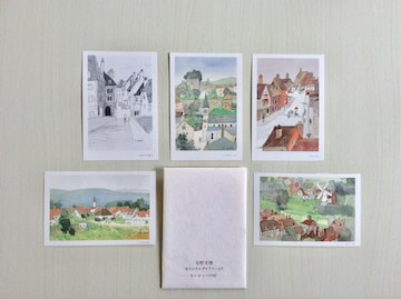 『ヨーロッパの村』安野光雅ポストカード!