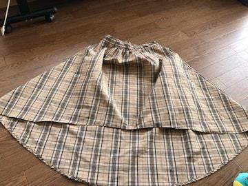 チェック柄アシメスカート160