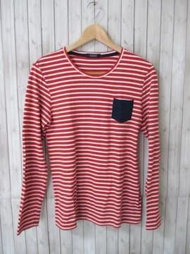 ☆バーバリーブラックレーベル ボーダー柄 長袖Tシャツ/メンズ/2☆美品