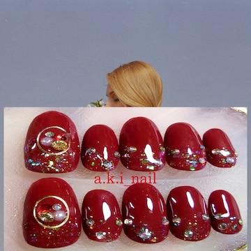 ジェルネイルチップ☆付け爪~ボルドーワンカラー