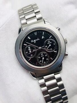 T191 agnes b. アニエスベー クロノグラフ ユニセックス 腕時計