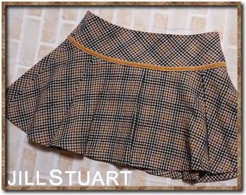 ジルスチュアート 千鳥格子ツイードスカート