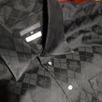 【値下げ不可】極美品!!men's 黒 アーガイル柄 カッターシャツ