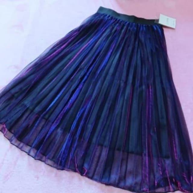 F/新品☆オーロラ偏光チュールスカート14 < 女性ファッションの