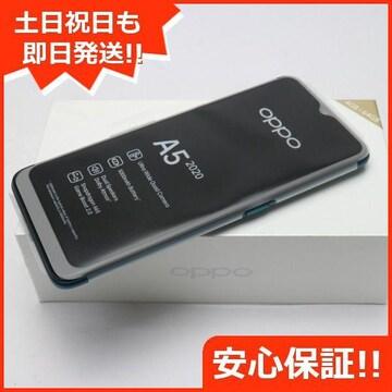 ◆安心保証◆新品未使用◆OPPO A5 2020  グリーン◆