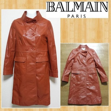BALMAIN バルマン 高級ラムレザーコート 超美品 羊革 5 購入20万