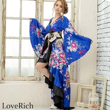 サテン和柄 着物ドレス 花魁 ドレス 衣装 よさこい 衣装  チャムドレス