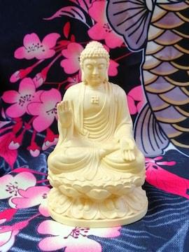 卍 仏像 木彫り 置物